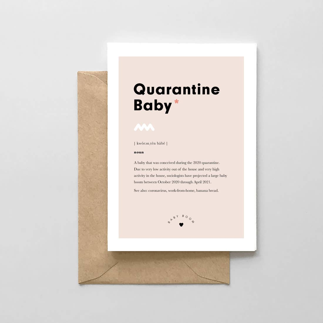 Quarantine Baby Definition Card
