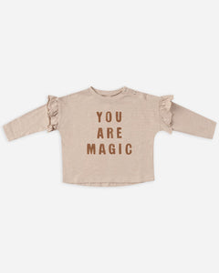 You Are Magic Ruffle Tee - Oat