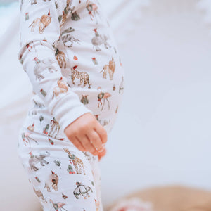 Holiday Safari Pima Pajama Set
