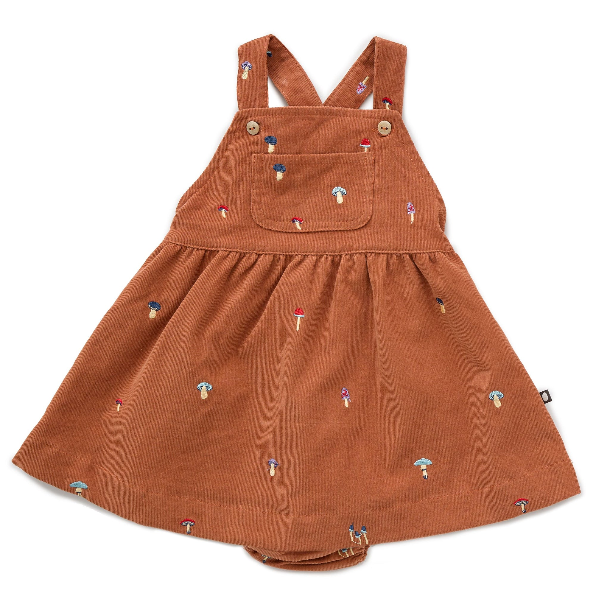 Worker Overall Dress w/ Bloomers Autumnal