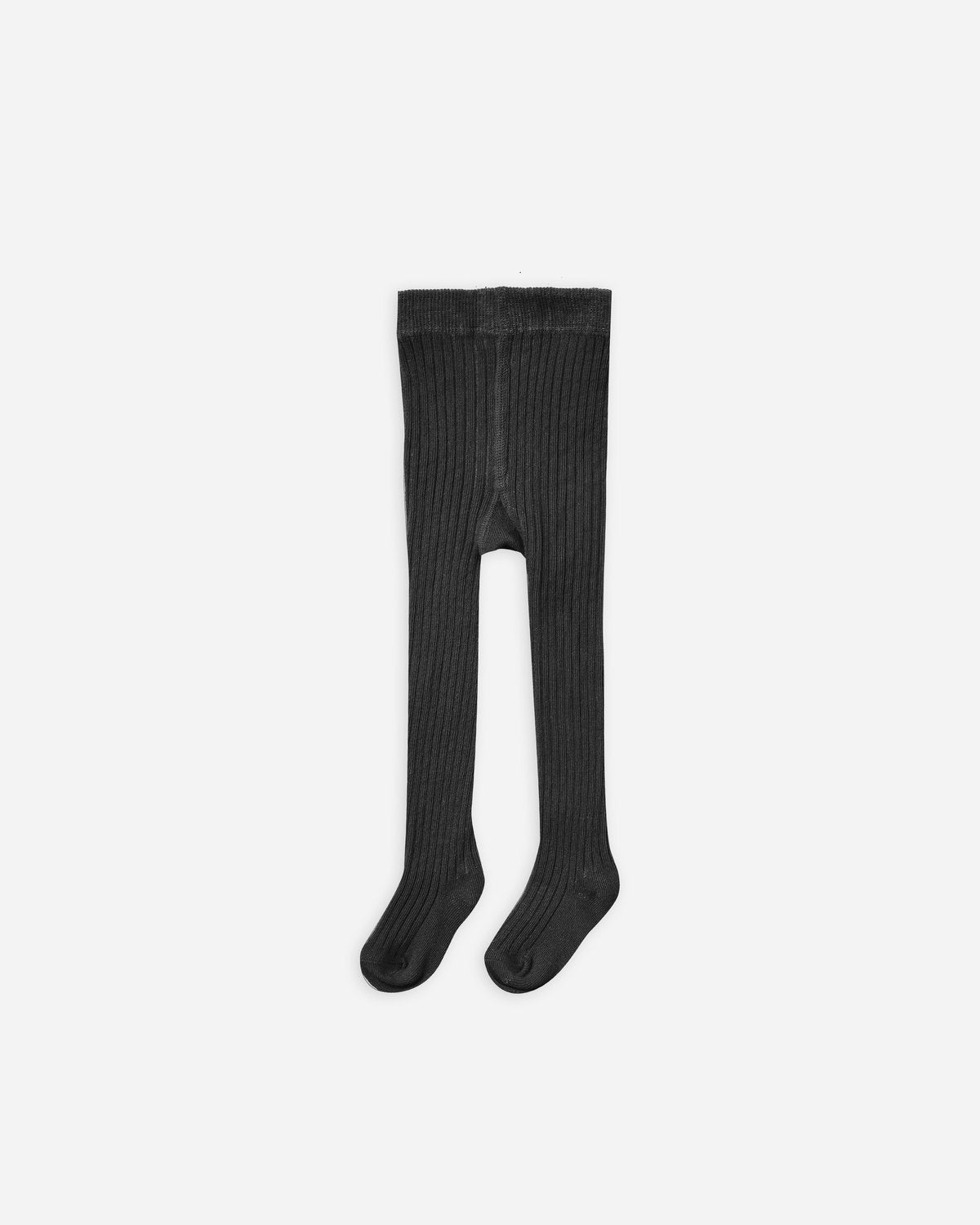 Rib Knit Tights Vintage Black