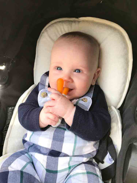 Logan using BUNNY teether
