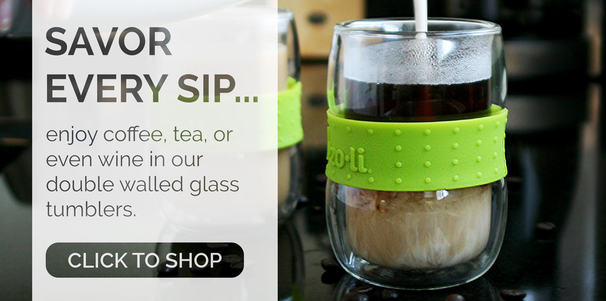 SWIRL DOUBLE WALLED GLASS TUMBLERS