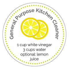 General Purpose Kitchen Cleaner Label