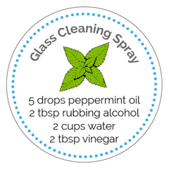 Glass Cleaner Printable Label