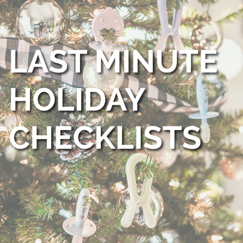 Last Minute Holiday Checklists
