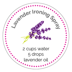 Lavender Ironing Spray Printable Label
