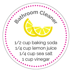 Bathroom Cleaner Printable Label