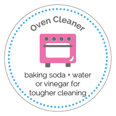 Oven Cleaner Printable Label