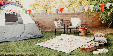 Backyard camping party idea