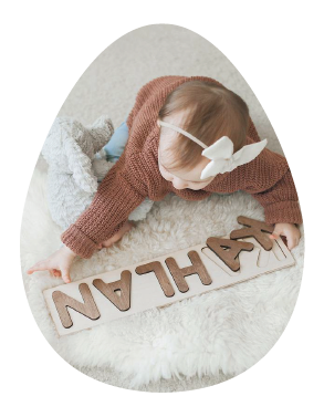 baby custom name puzzle baby easter basket ideas