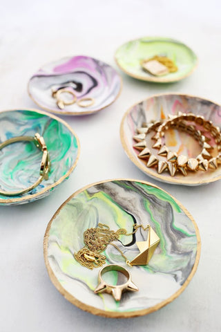 marbled jewelry dish