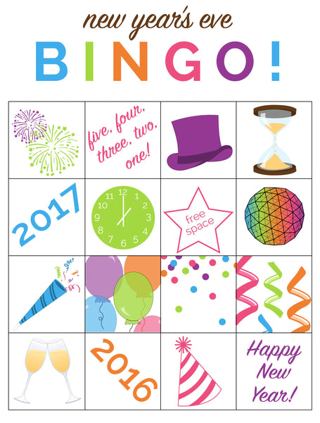 New Year's Eve Bingo ZoLi