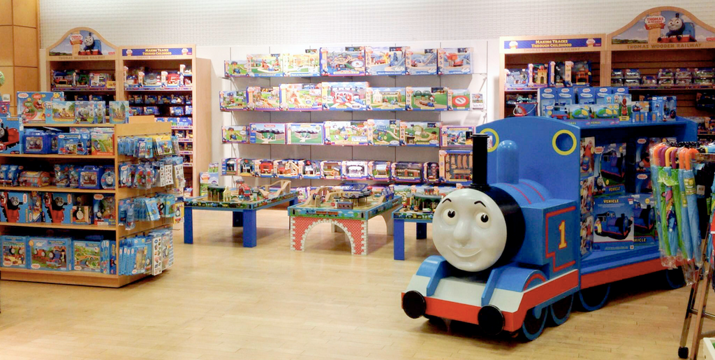 Thomas the Tank inside their store!
