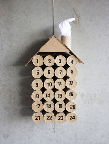 paper roll advent calendar