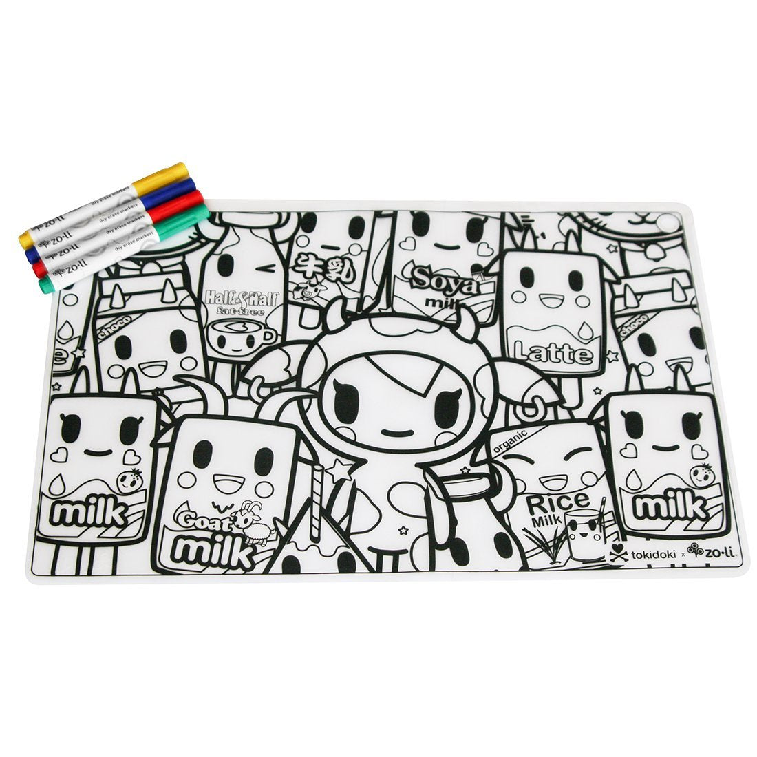 tokiMATTIES-tokidoki-colorable-placemats