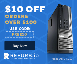 $10 Off Orders Over $100 REFURB.io with Promo Code FREE10