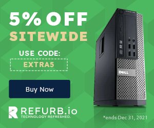 5% Off Sitewide REFURB.io with Promo Code EXTRA5