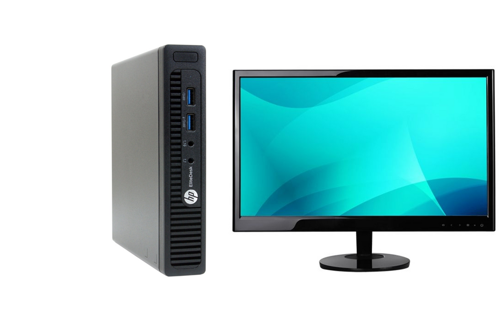 "HP 705G2 MDT AMD A10-8700B 8GB 256SSD W10P 22"" LCD - COMBO (Refurbished)"