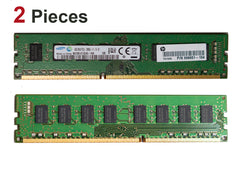 8GB Desktop RAM DDR3 Memory PC3L-12800U - 2 Pieces