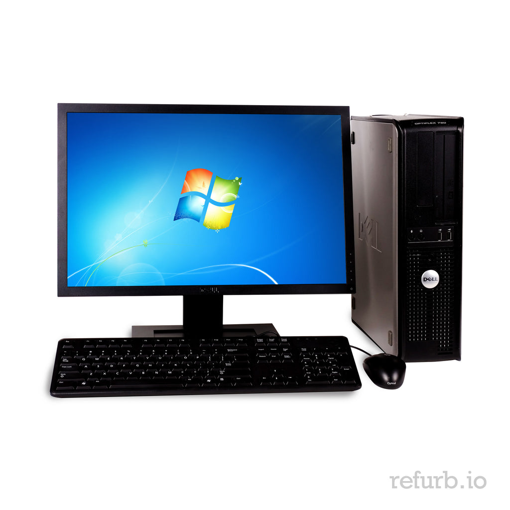 "DELL GX960 COMBO Core2Duo 2.93ghz 4GB Ram 250GB HDD 19"" LCD Windows 10 Home"