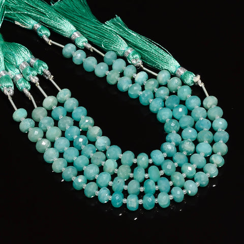 Amazonite Faceted Rondelle 7mm