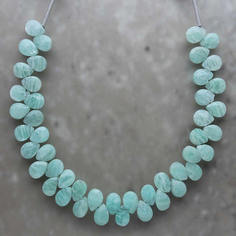 Amazonite Almond Briolette 5mmx7mm