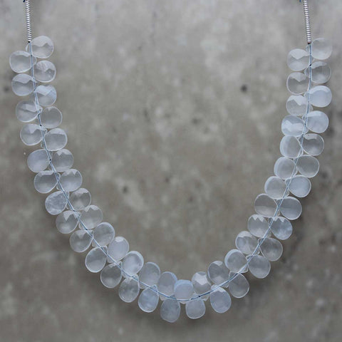 Blue Chalcedony Almond Briolette 5mmx7mm