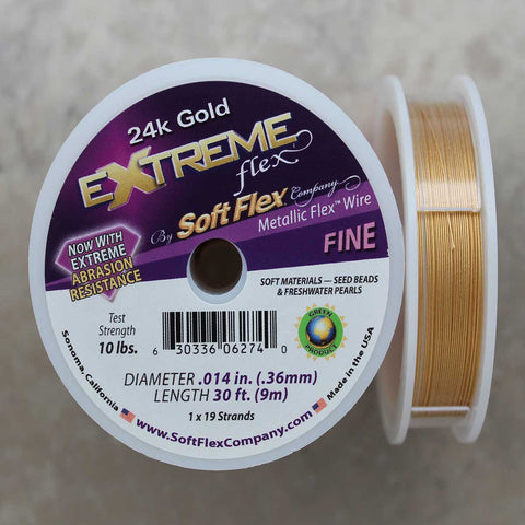 Soft Flex 24k Gold Fine Wire, 30 Foot Spool
