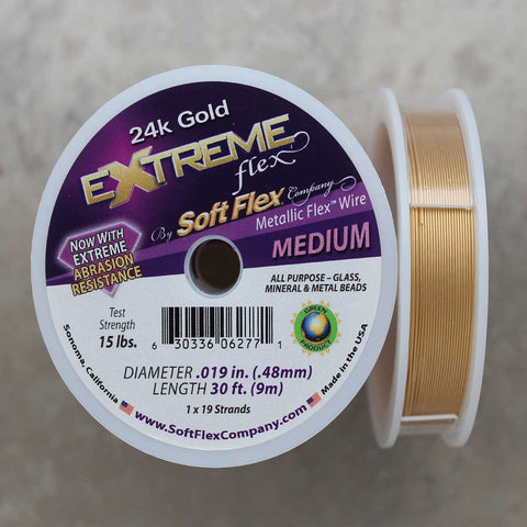 Soft Flex 24k Gold Medium Wire, 30 Foot Spool