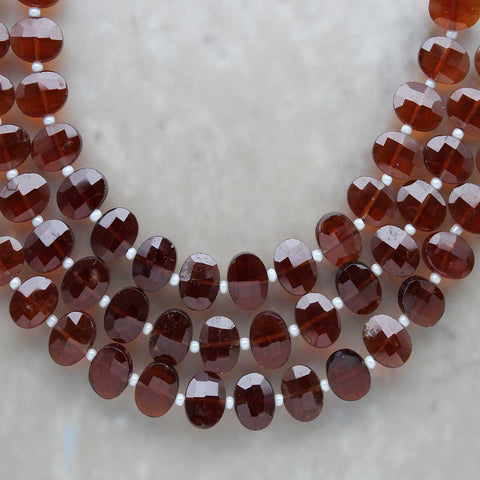 Hessonite Garnet Oval 7mm x 9mm