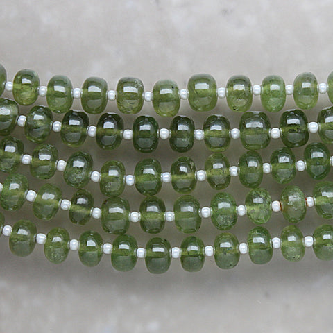 Vesuvianite Non-Faceted Rondelle 7mm