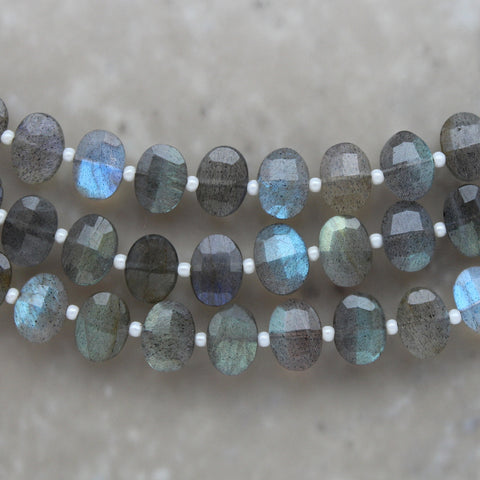 Labradorite Faceted Oval 7mm x 9mm