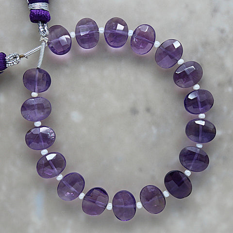 Amethyst Faceted Oval 7mm x 9mm
