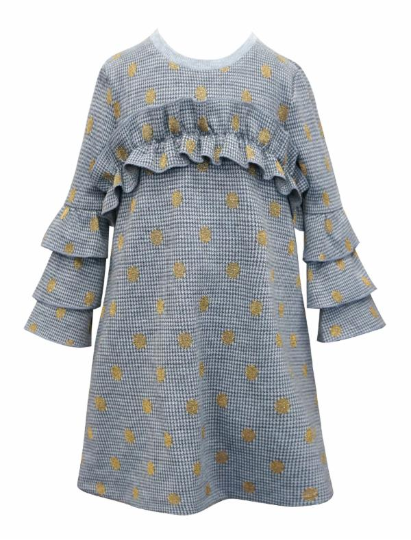 Hannah Banana Polka Dot Knit Dress