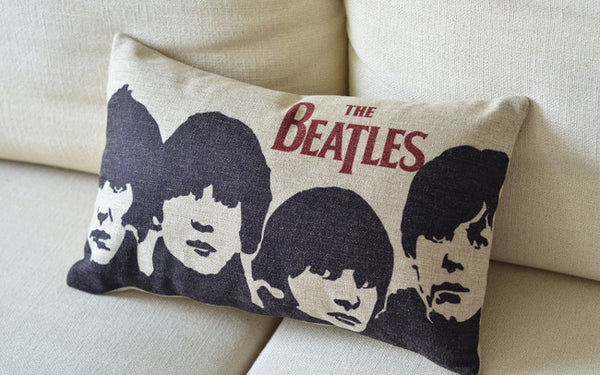 the Beatles UK Rock Star Band Member Portrait Icon Pillowcase Cushion Cover
