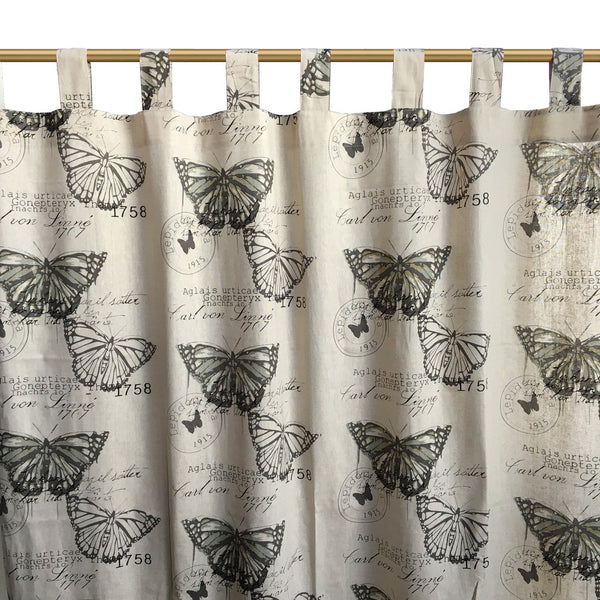 "1pc 59"" x 82"" Butterfly Romantic Cotton Home Cafe Curtain Window Drape"
