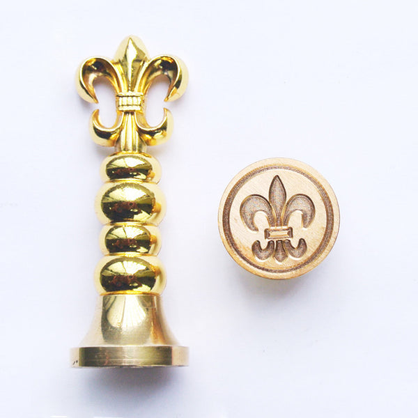 UNIQOOO French Fleur stamp Gold Wax Sealing Stamp