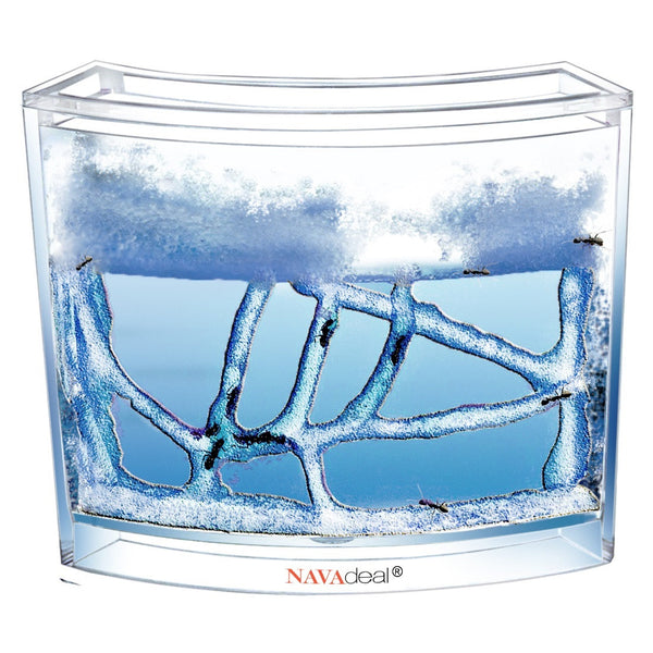 Ant Artists Ant Farm, Clear Blue Gel Ant Castle - Live Ant Watching and Observation Habitat, Educational Toy For Kids and Adults, Study Behavior Ecosystem