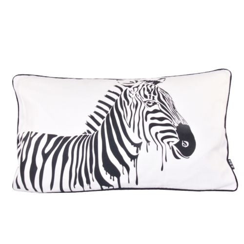Modern Black White Zebra Horse Decorative Lumbar Pillow Case Cushion Cover