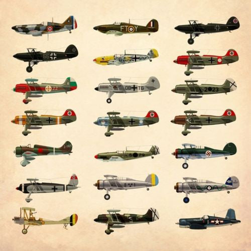 WW2 Aircrafts Collection Photography Work Art Decorative Painting Canvas Poster