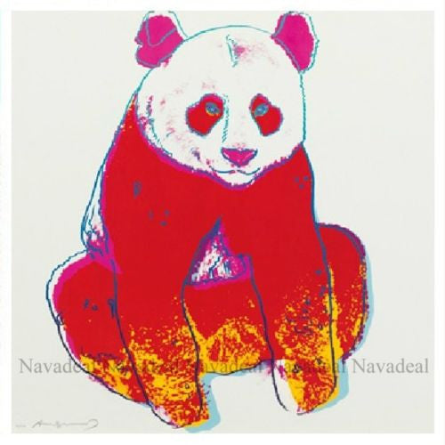 4pcs Pop Art Andy Warhol Endangered Animal Panda Elephant Zebra Canvas Poster