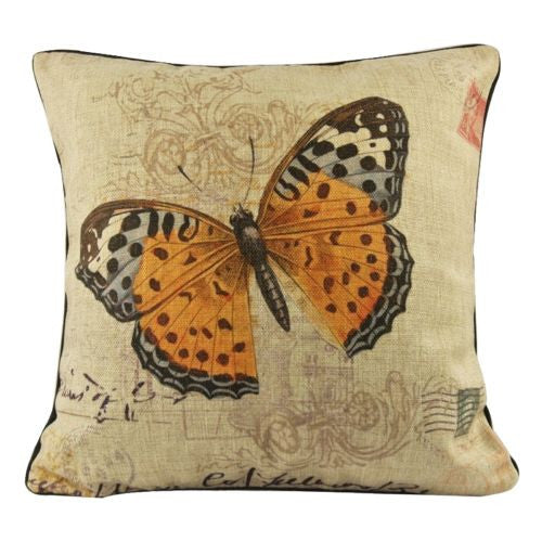 Vintage Wild Butterfly Romance Decorative Pillow Case Cushion Cover Sham
