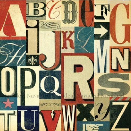 2Pcs Pop Modern Retro Numbers Letters Decorative Wall Art Canvas Patining Poster