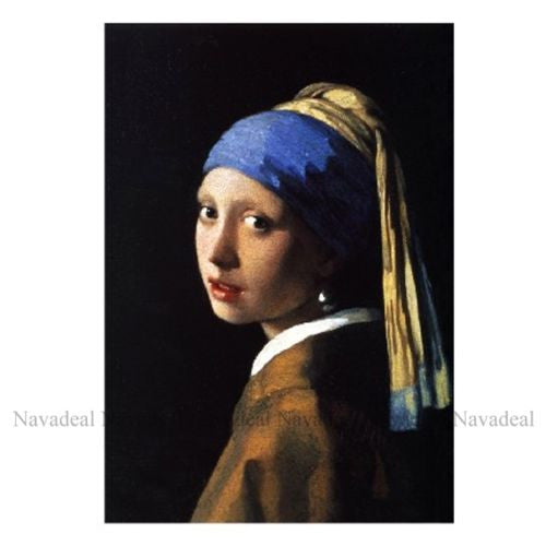 Jan Vermeer Girl With Pearl Earring Masterpiece Decorative Wall Art Canva Poster
