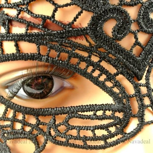 Sexy Elegant Black Lace Eye Face Mask Masquerade Ball Prom Halloween Costume