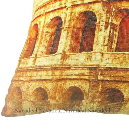 Italy Roman Empire Colosseum Vintage Art Decorative Pillow Case Cushion Cover
