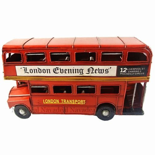 Vintage Metal UK London Routemaster Red Double Decker Bus Toy Model Props