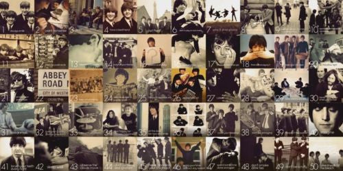 UK Rock Band The Beatles 50 Faces Photo Decorative Painting Canvas Wall Poster