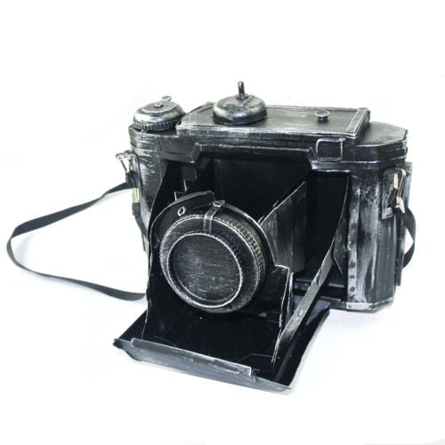Vintage Decorative Matt Black Camera Props Metal Model Photographing Display